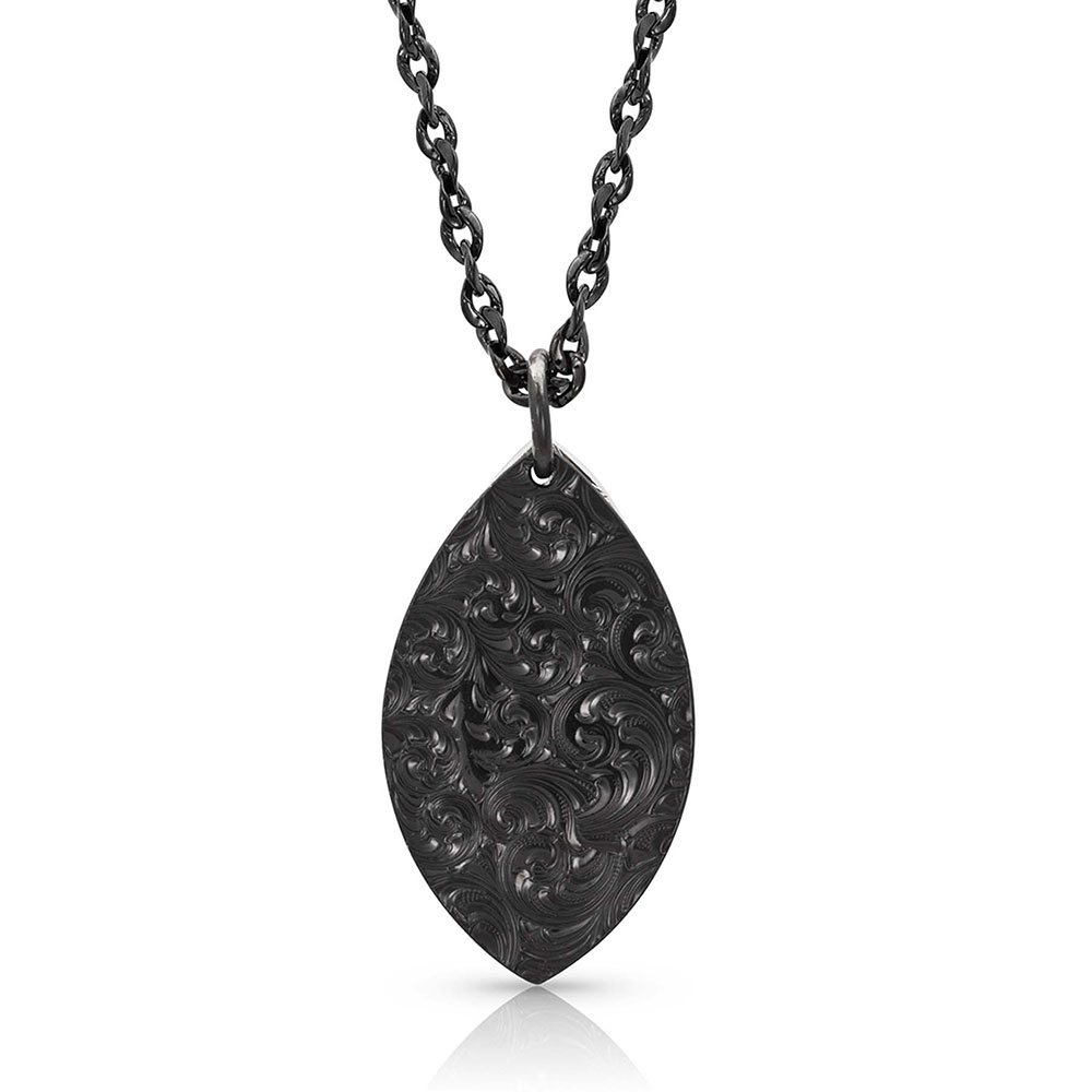 Moonlight on a Shadowed Pond Necklace