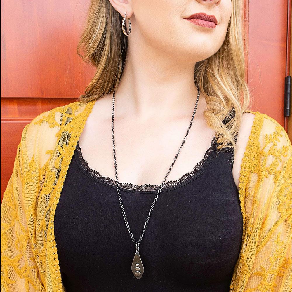 Polished River Rock Necklace