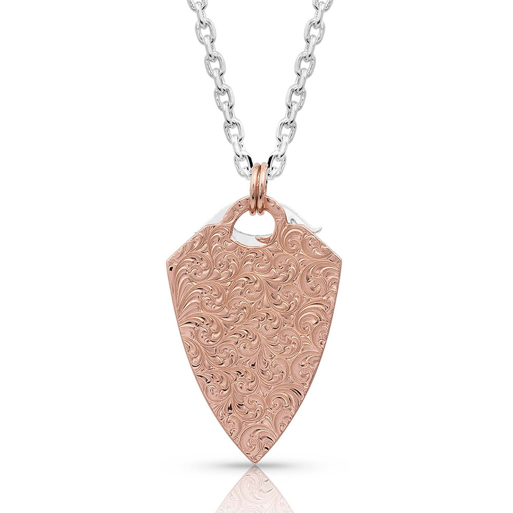 No Boundaries Rose Arrowhead Necklace
