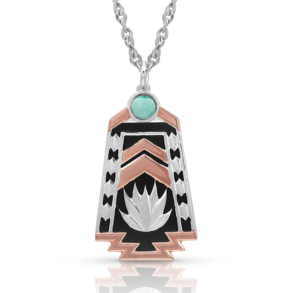 Desert Serenade Agave Turquoise Necklace