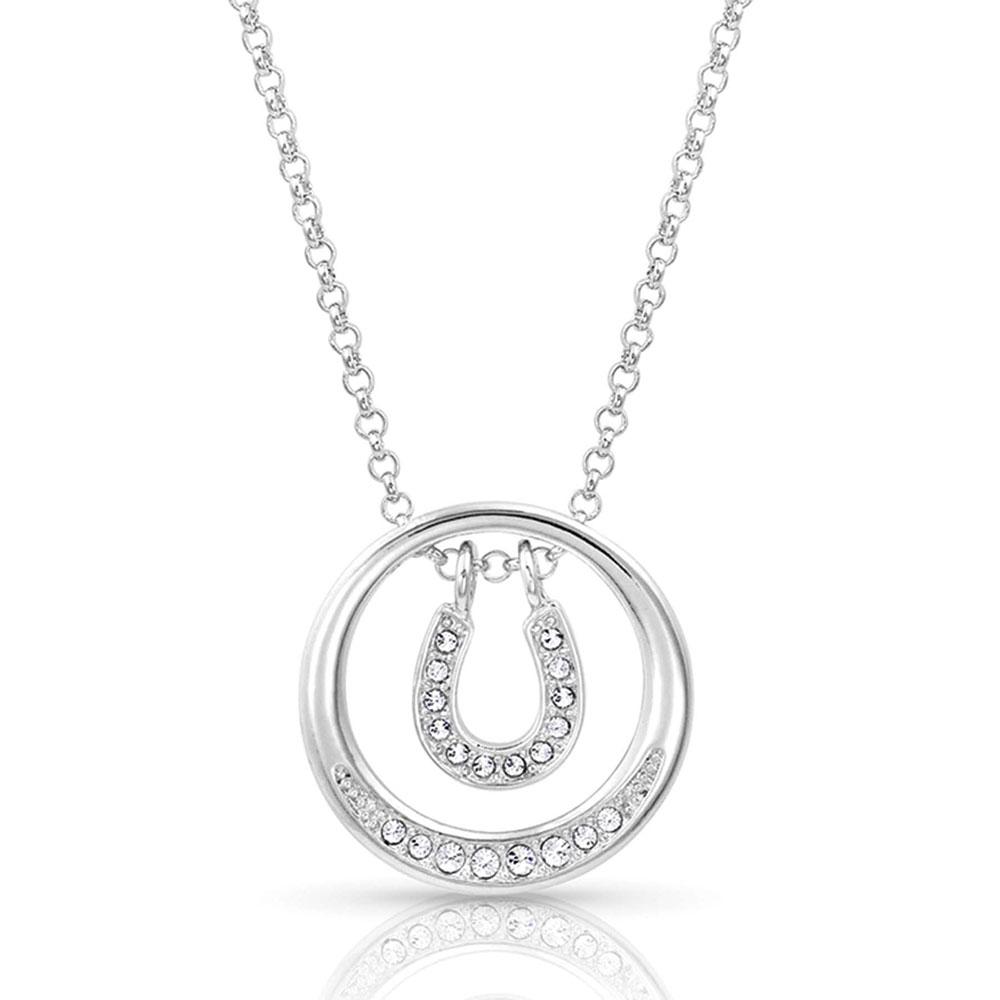Starlight Horseshoe Swing Necklace