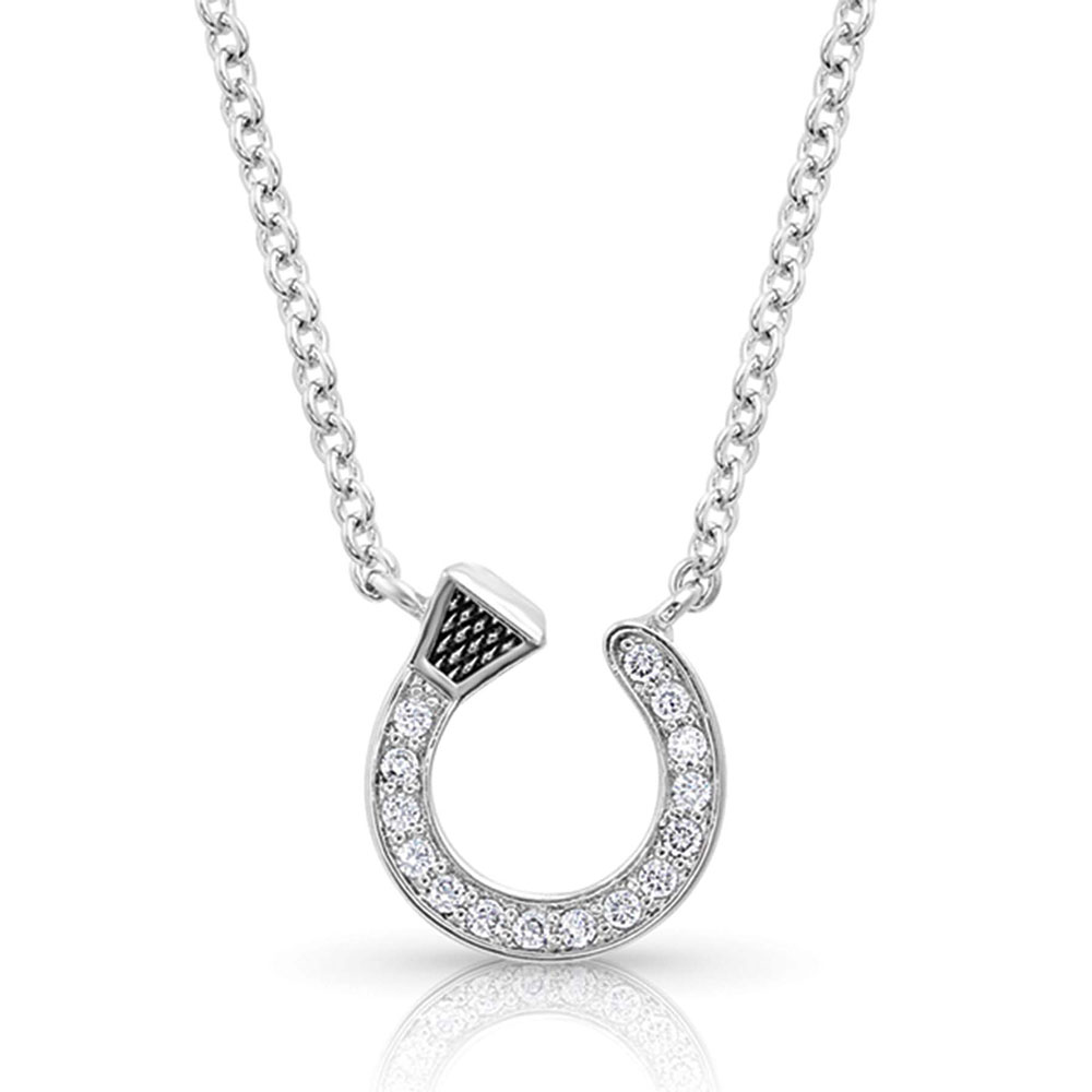 Starlight Horseshoe Nail Necklace