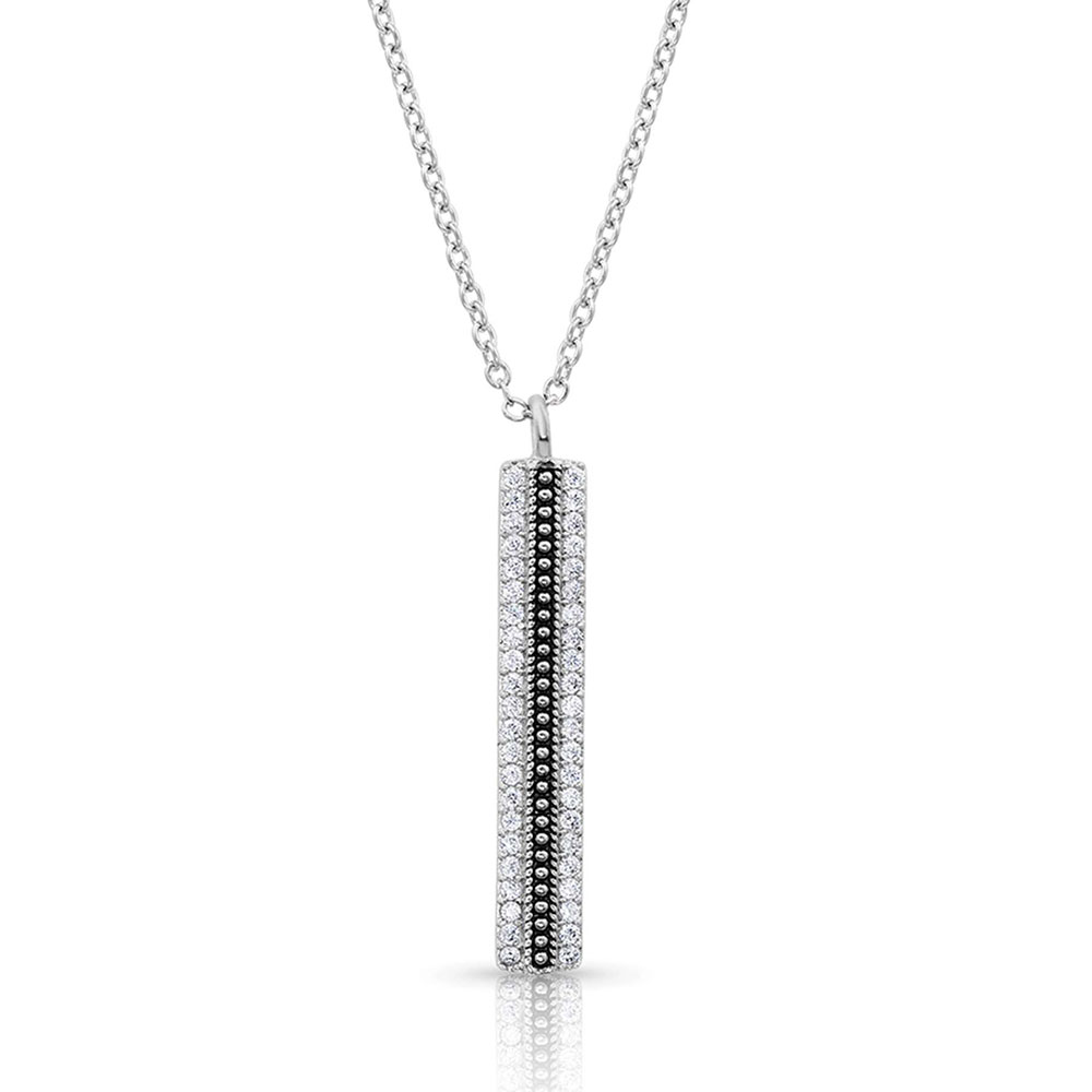 Classic Haloed Beauty Bar Necklace