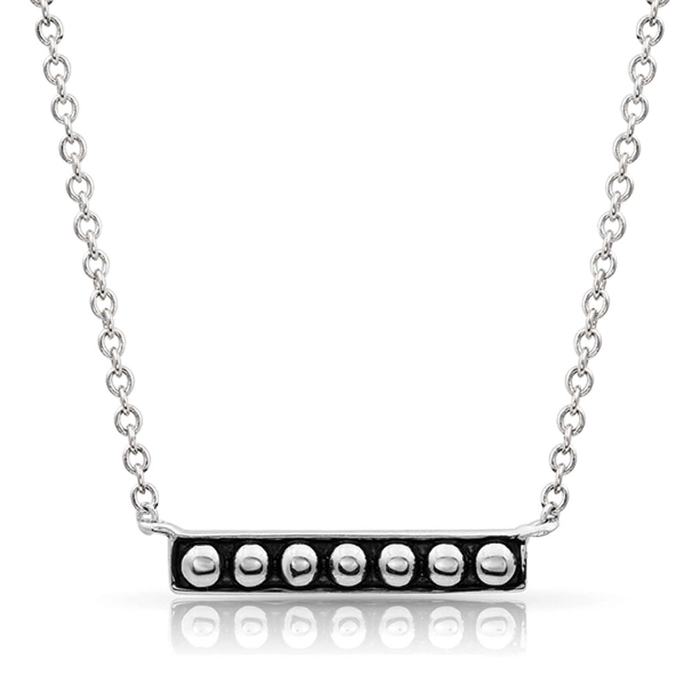 Classic Beaded Bar Necklace