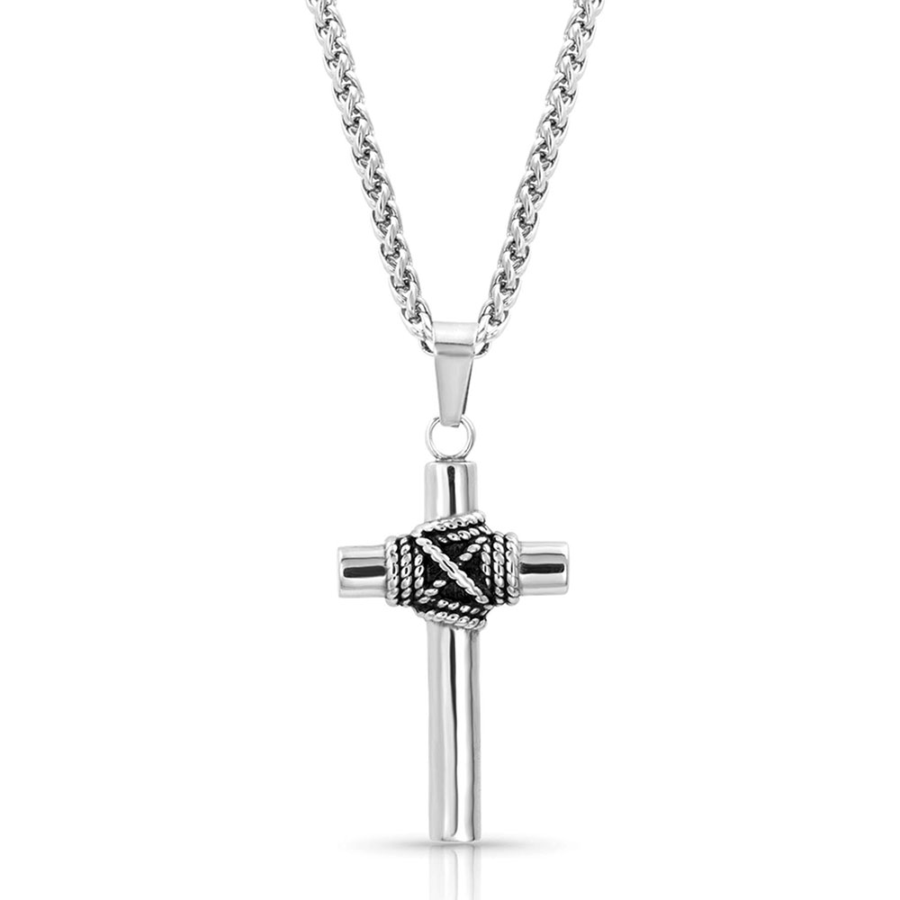 Rope Wrapped Cross Necklace