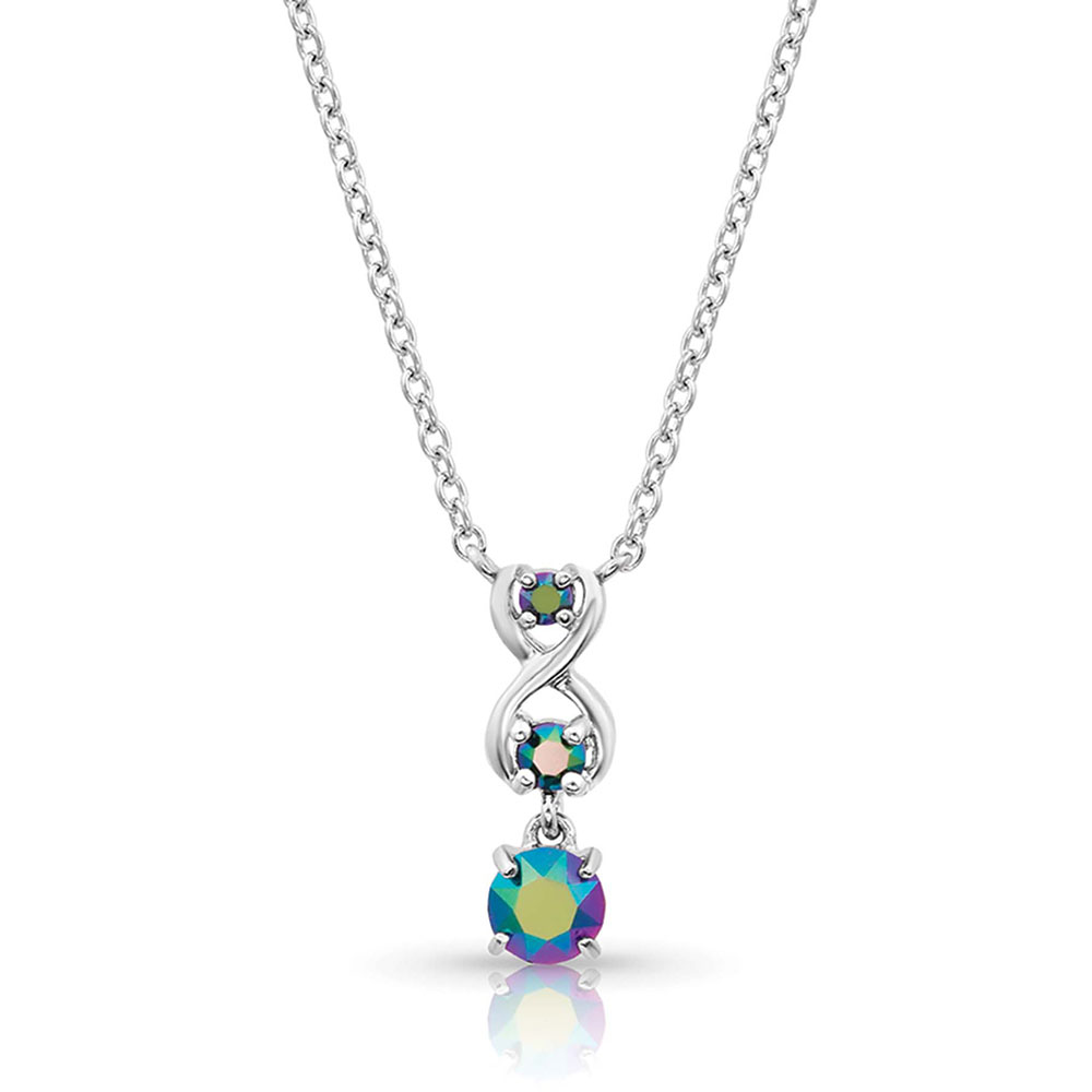 Northern Lights Infinity Necklace