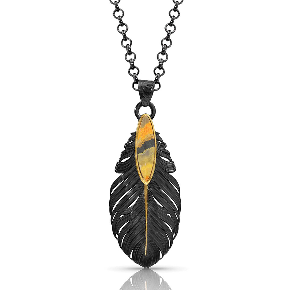 Ruffled Feathers Bumblebee Jasper Necklace