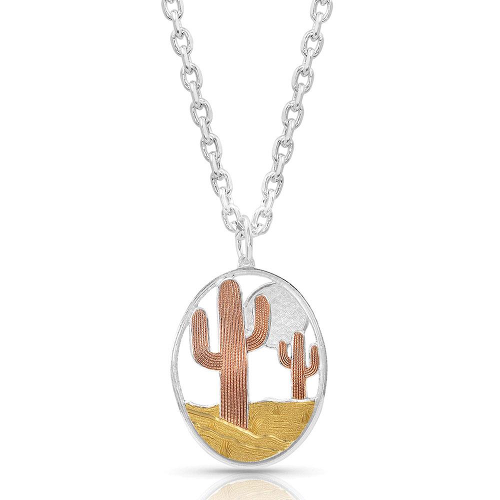 Desert Moon Cactus Necklace