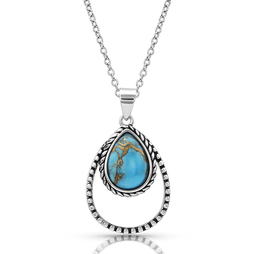 Double Rope Turquoise Necklace