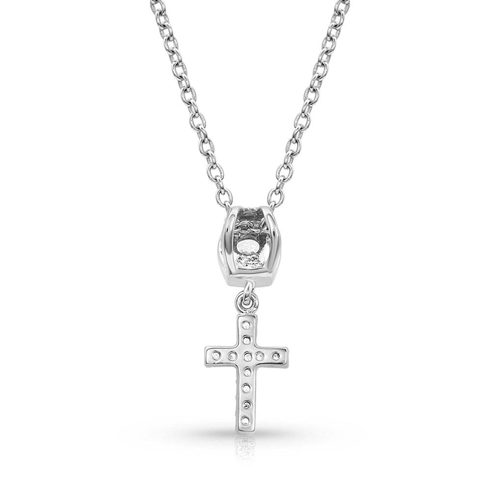 Star Lights Faith Cross Necklace