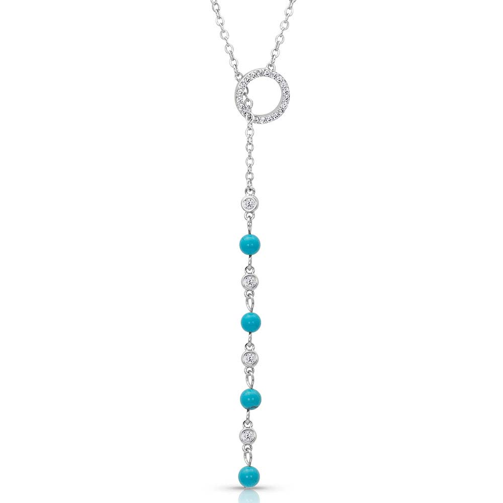 Lariat Turquoise Drop Necklace
