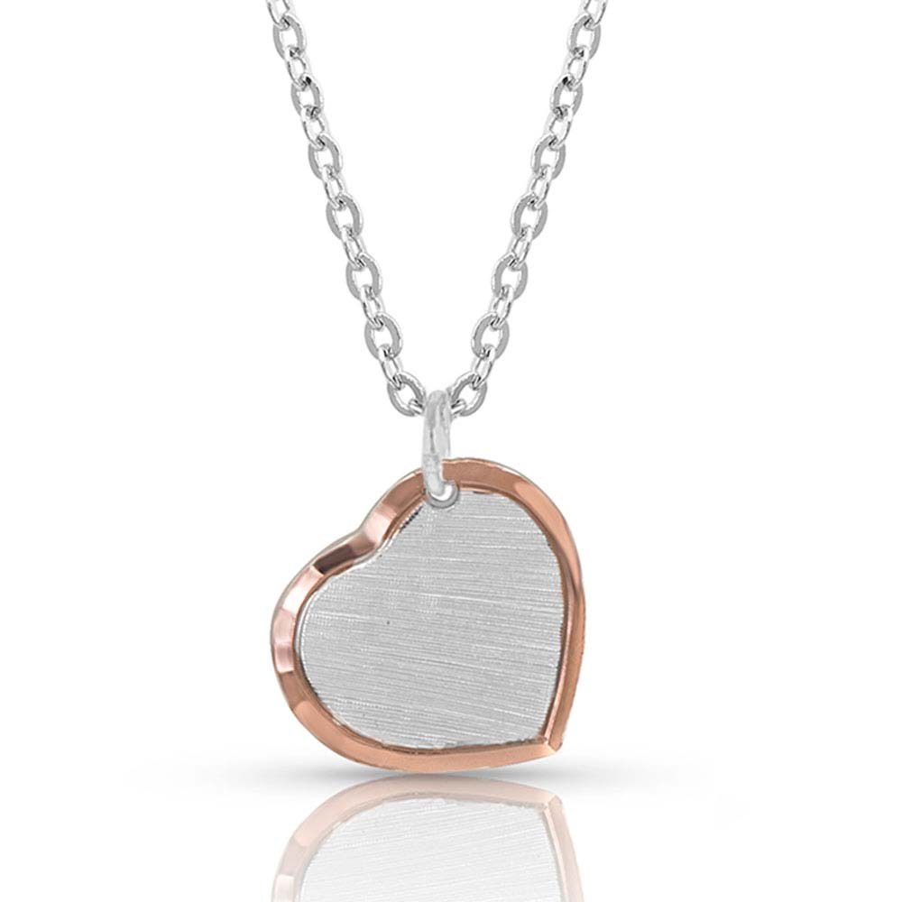 Perfectly Paired two-tone Heart Necklace
