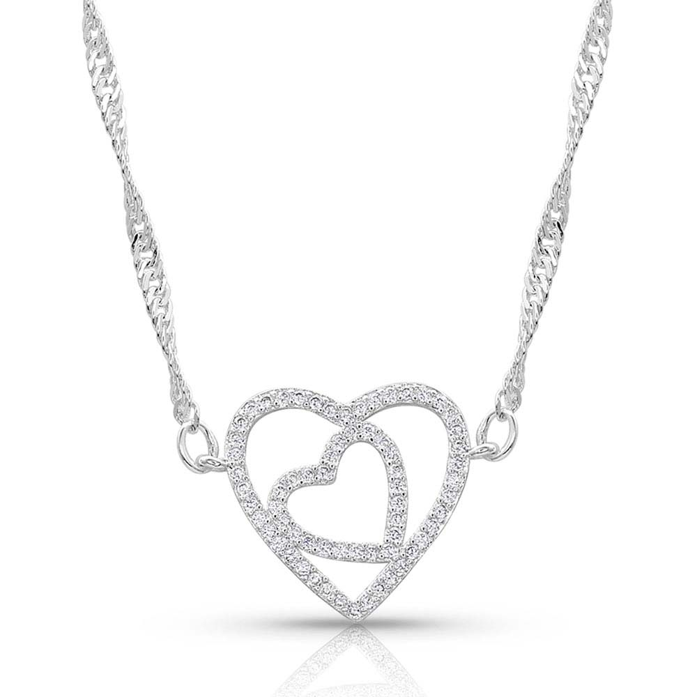 Double Open Heart Split Necklace