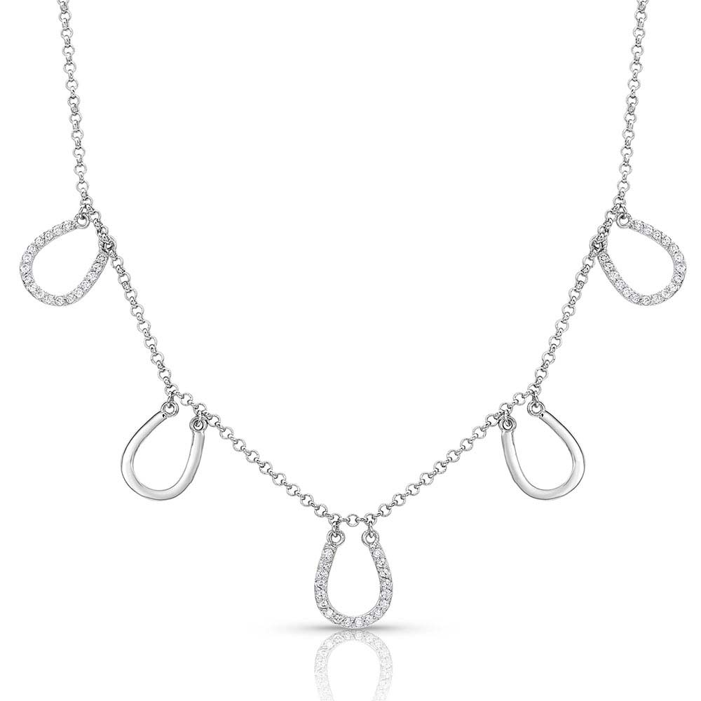 Horseshoes On The Line Necklace