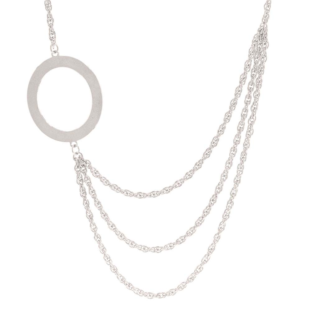 Circle of Life Layered Chain Necklace