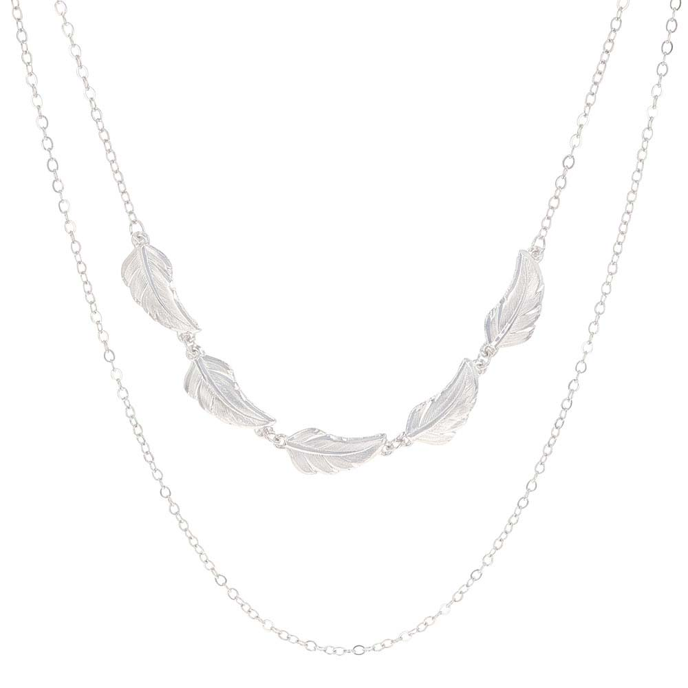 Stronger Together Feather Multi-Chain Necklace