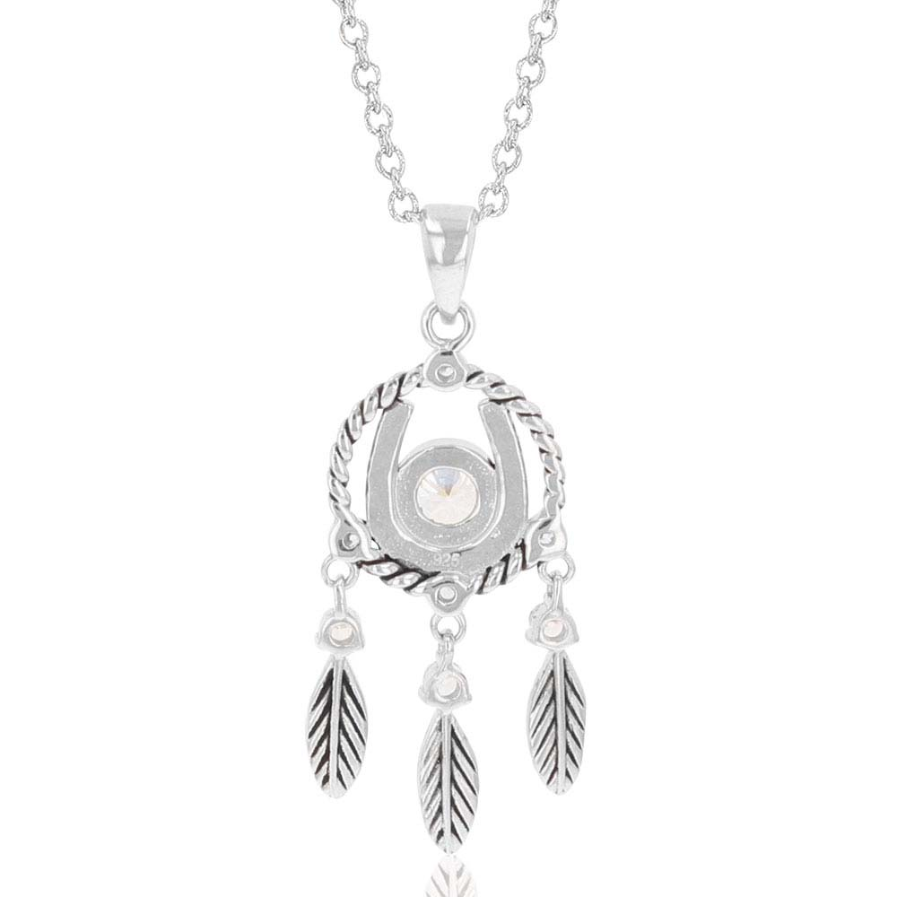 Horseshoe Feather Dreams Necklace