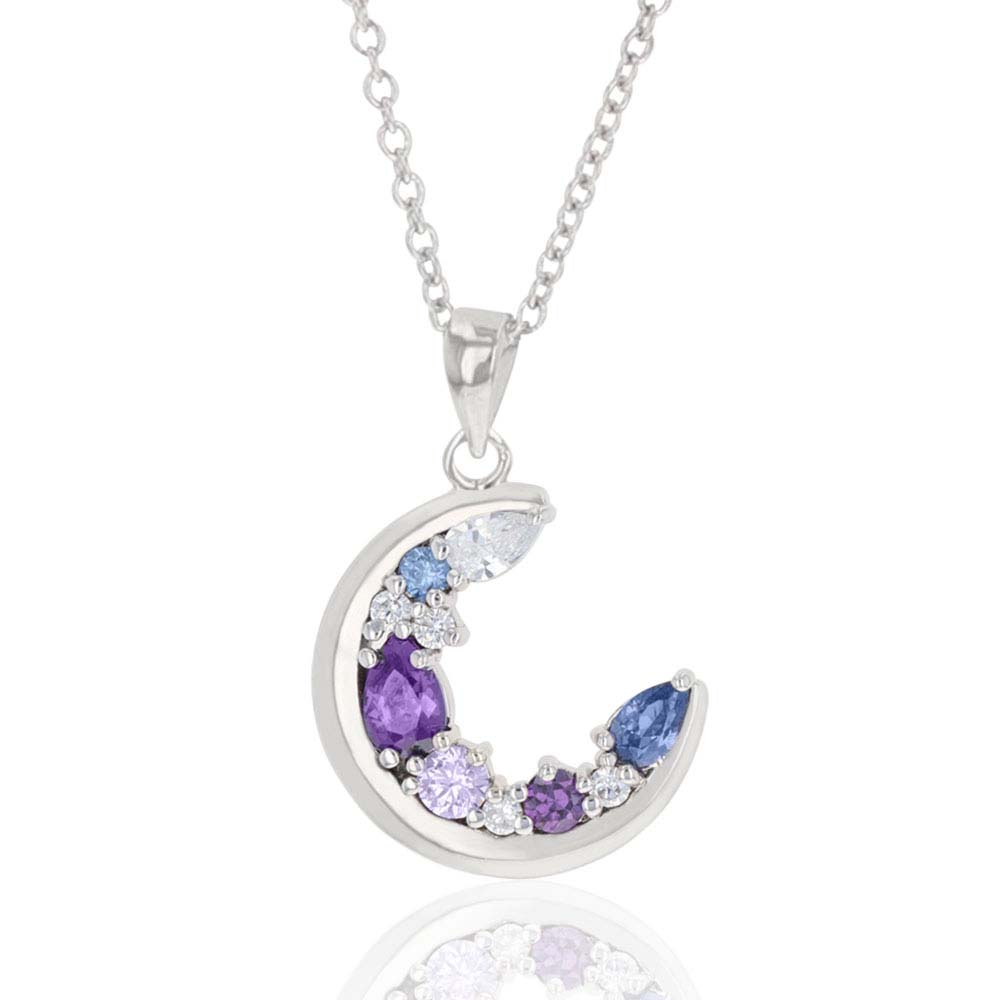 Purple Haze Cluster Moon Necklace