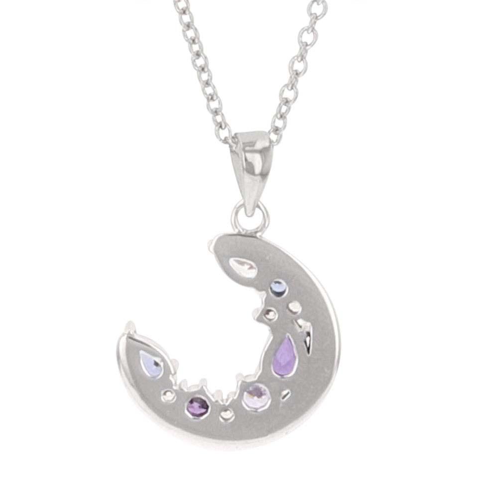 Purple Haze Cluster Moon Necklace