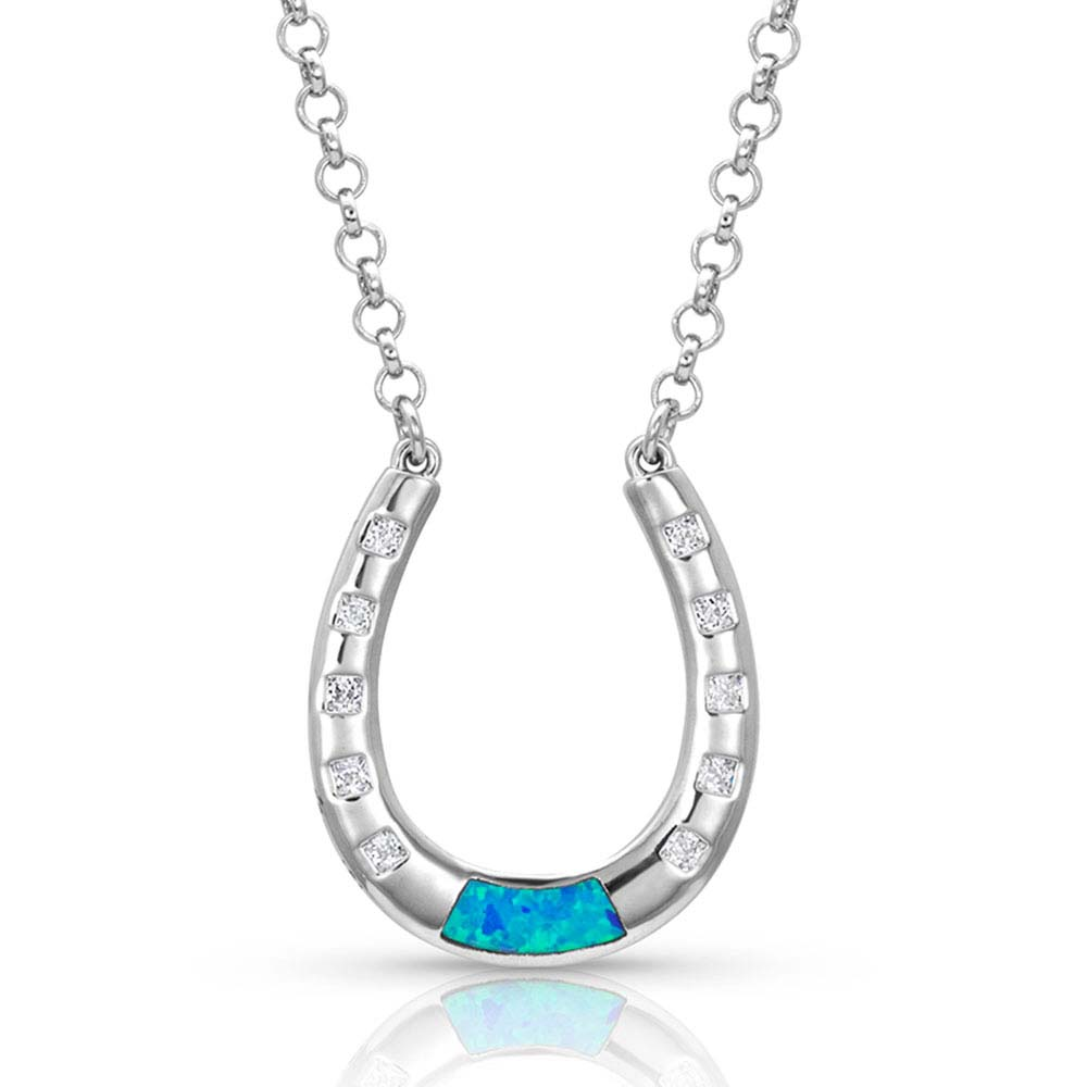 At The Center Of It All Horseshoe Necklace