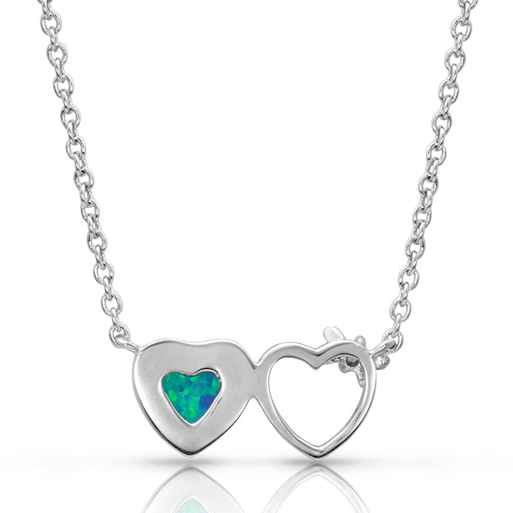 Mirrored Heart Opal Necklace