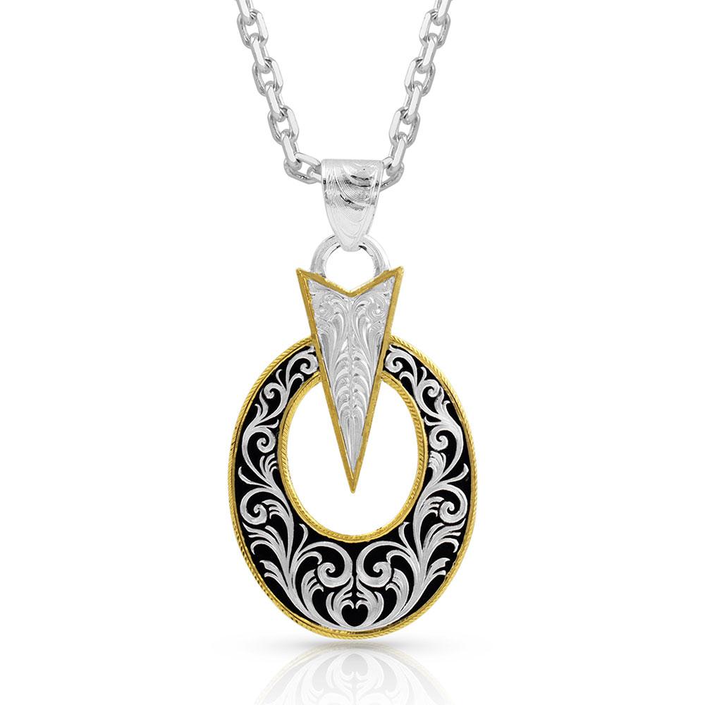 Striking Oval Necklace