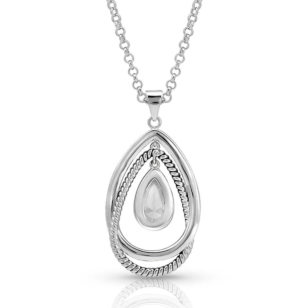 Opal Ribbons Teardrop Necklace
