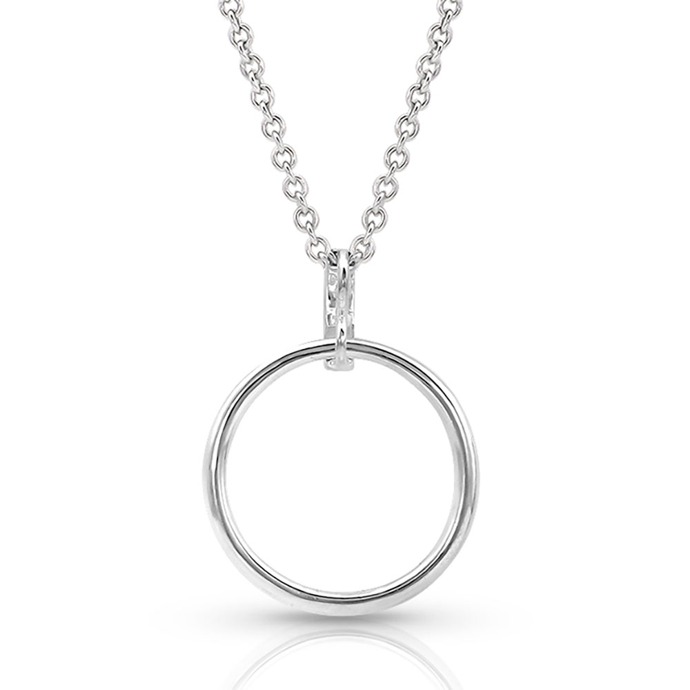 Twinkling Moonlight Ring Necklace