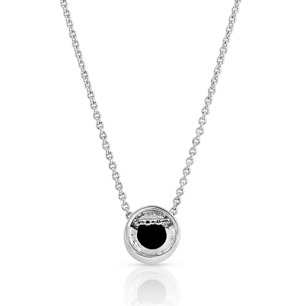 Druzy Gong Necklace