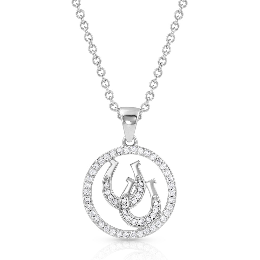 Lucky Horseshoe Pendant Necklace