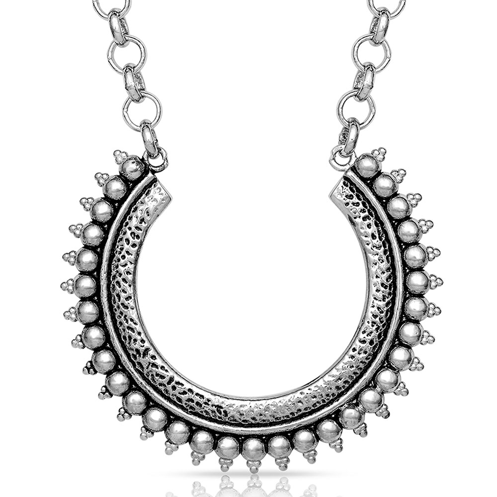 Sun Ray Horseshoe Necklace