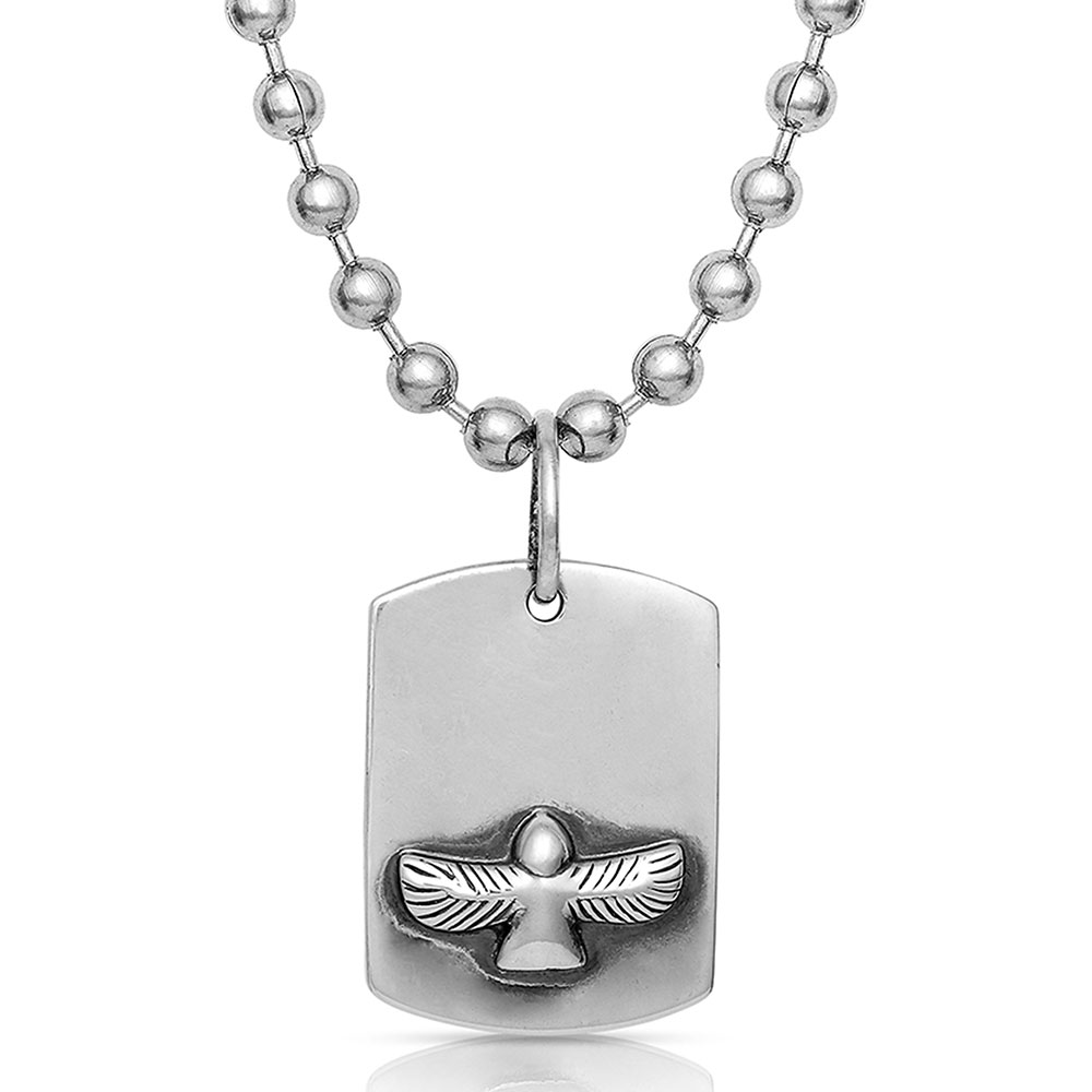 Flying Free Tag Necklace