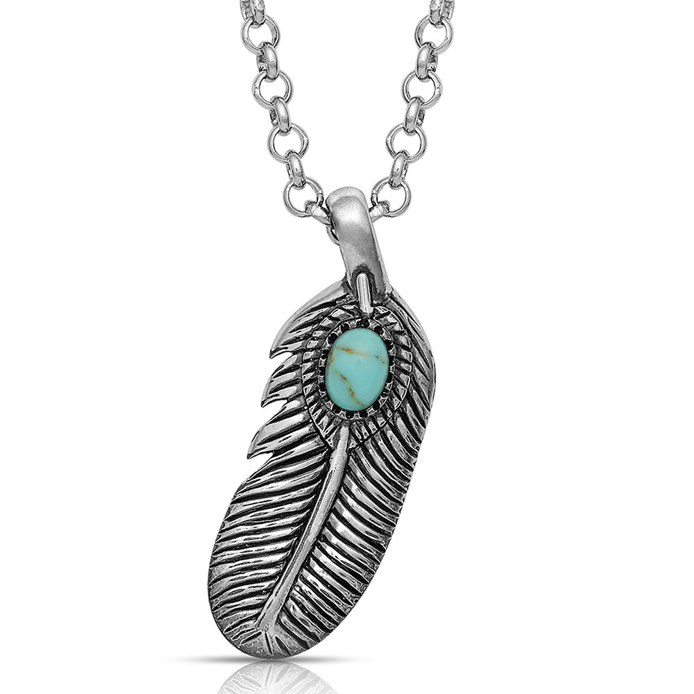 From The Beginning Feather Necklace