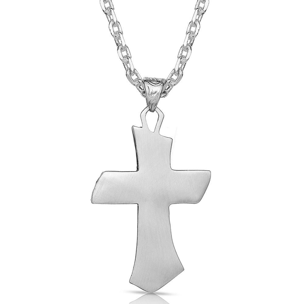 Inner Light Turquoise Cross Necklace