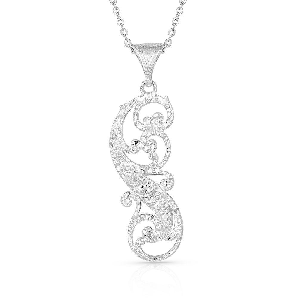 Sunfire Filigree Feather Necklace