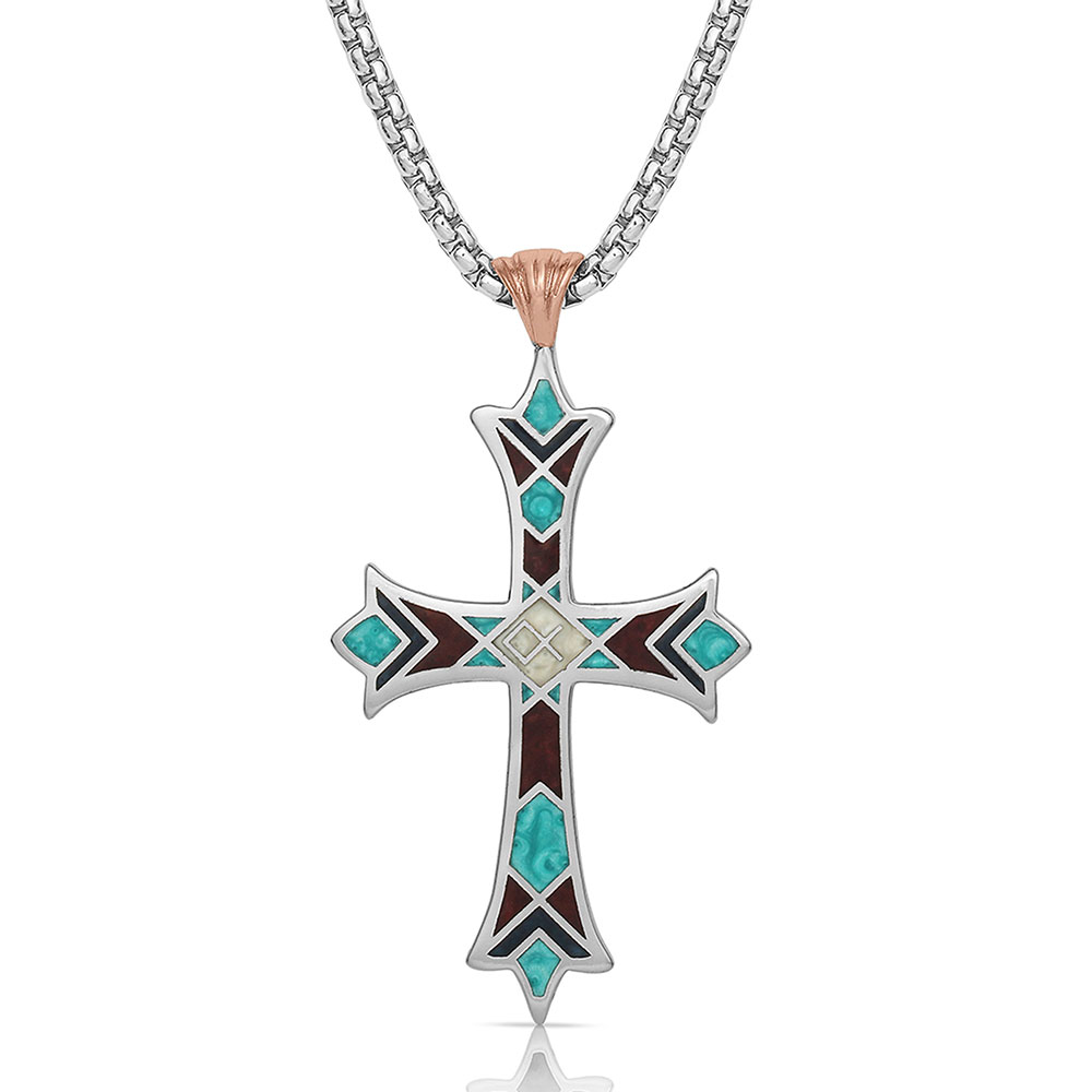 American Legends Embracing Faith Cross Necklace