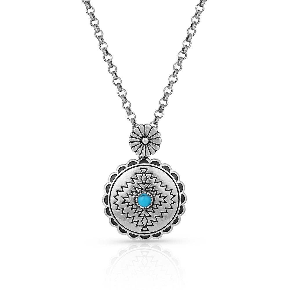 Center of the Storm Turquoise Necklace