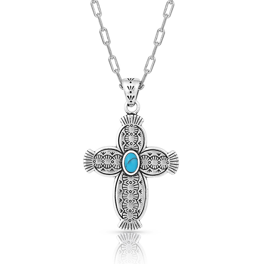 Royal Western Turquoise Cross Necklace