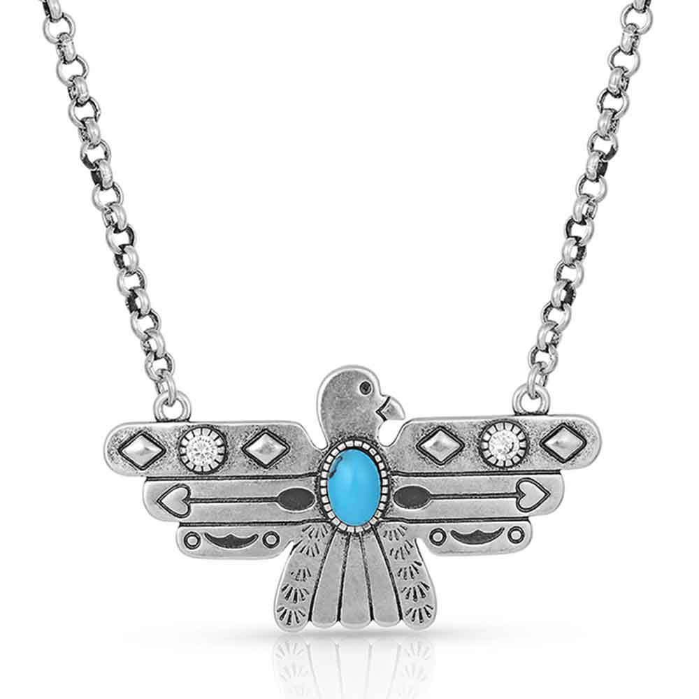 Rising Above Thunderbird Turquoise Necklace