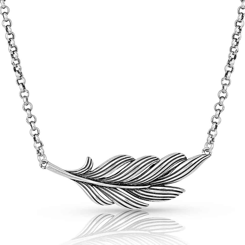 Frayed Singleton Feather Necklace