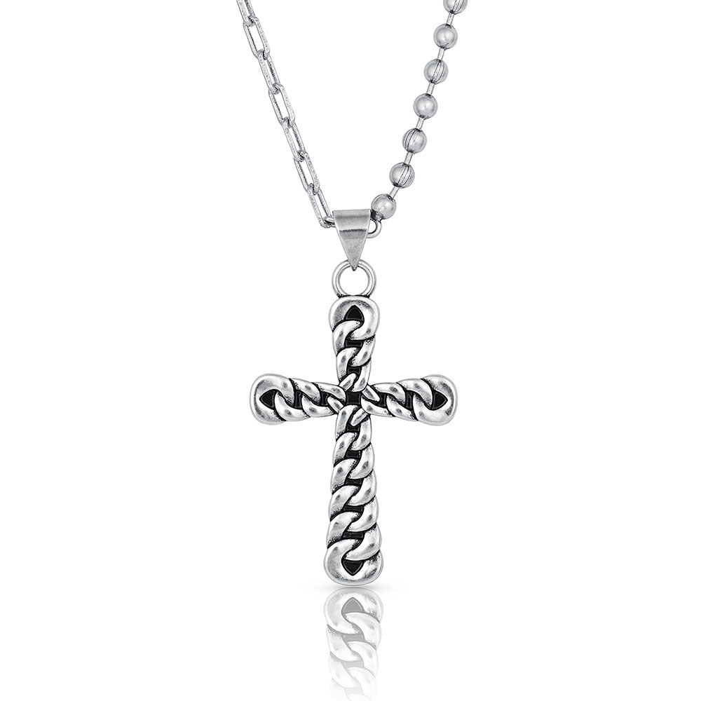 Strongly Linked Cross Necklace