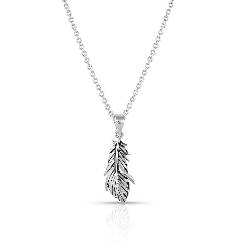 Rebirth Silver Feather Pendant Necklace