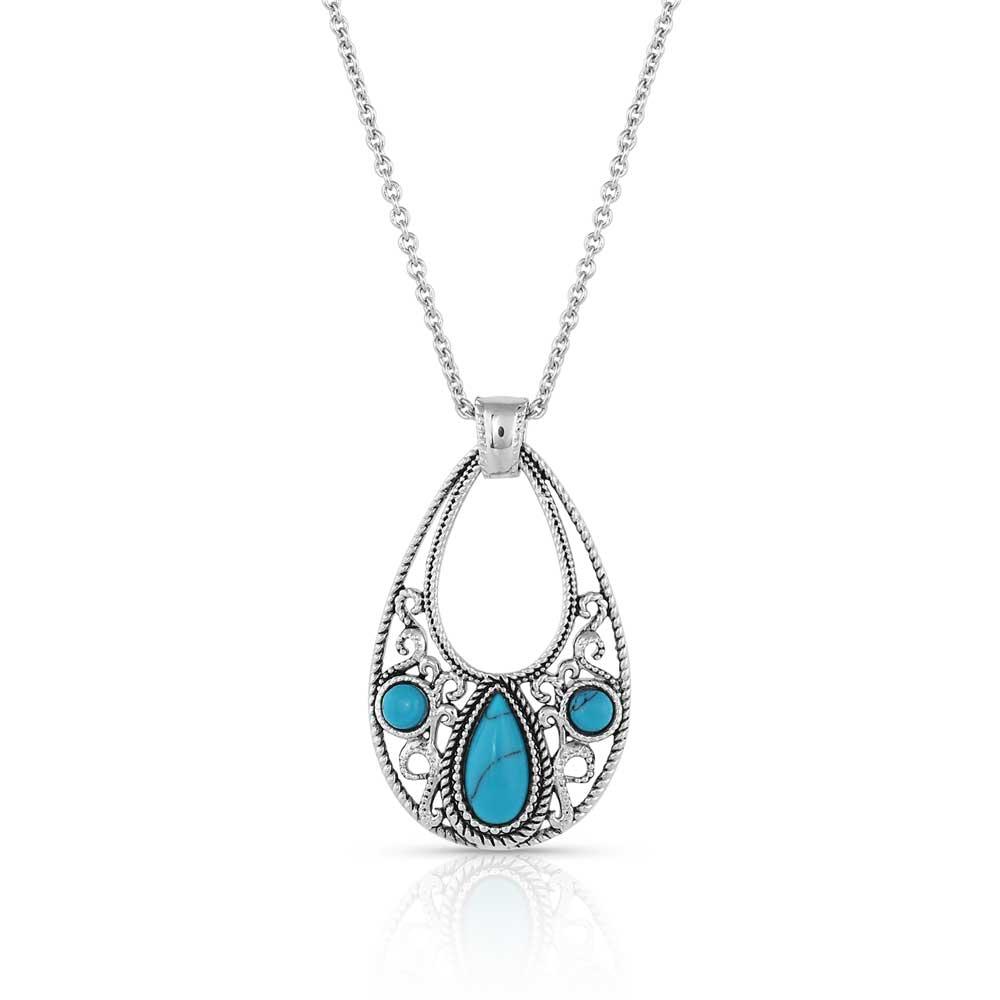 New World Stone Teardrop Necklace