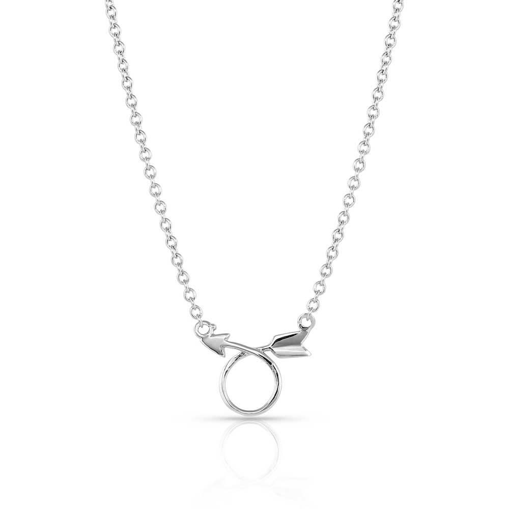 Dosey Doe Silver Arrow Necklace