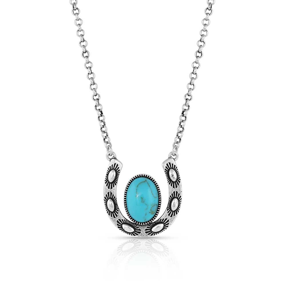 Within Luck Turquoise Horseshoe Necklace
