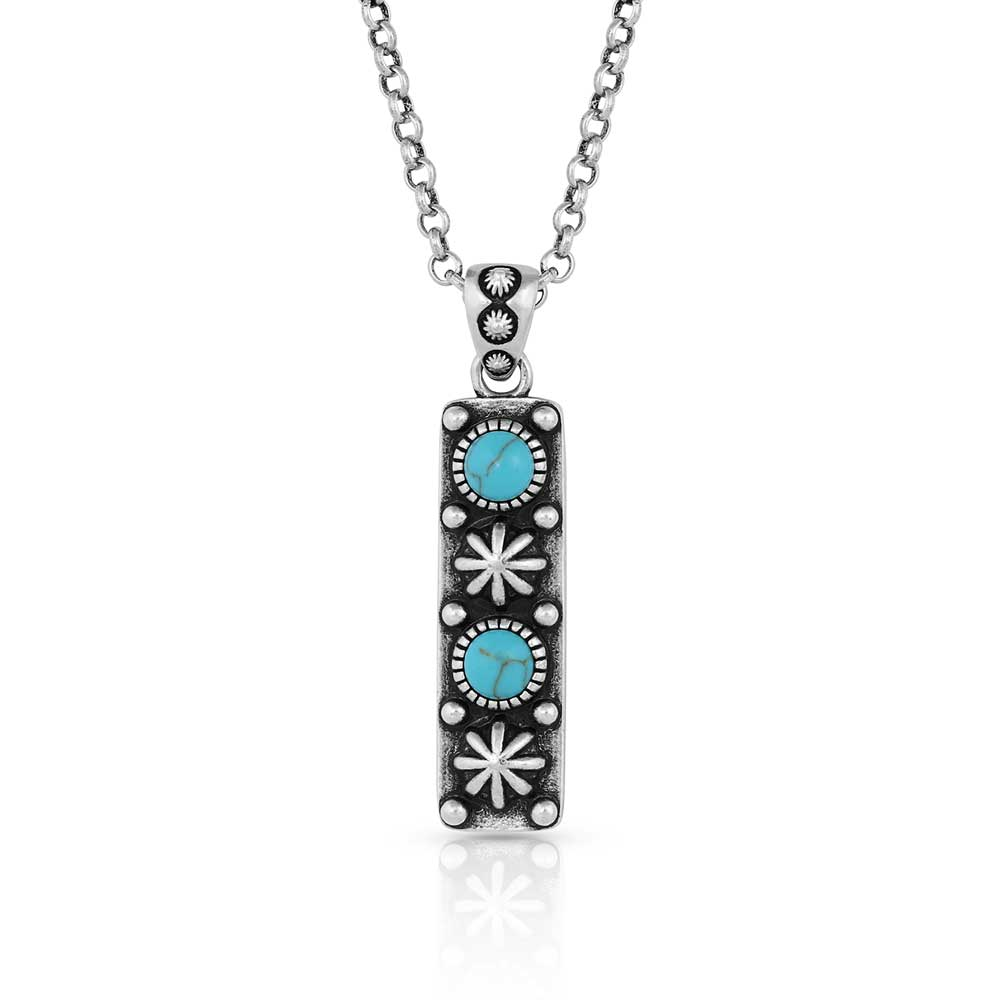 Starlight Starbrite Stone Turquoise Silver Necklace