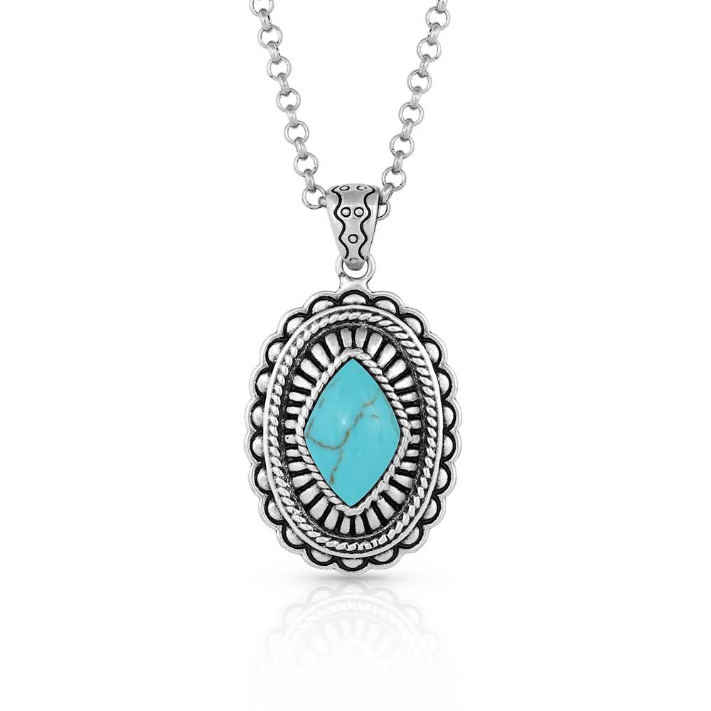 Turquoise Magic Stamped Pendant Necklace