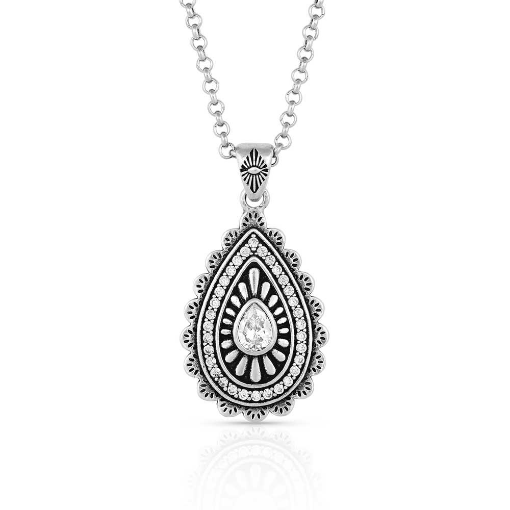 Purely & Primal Teardrop Silver Necklace