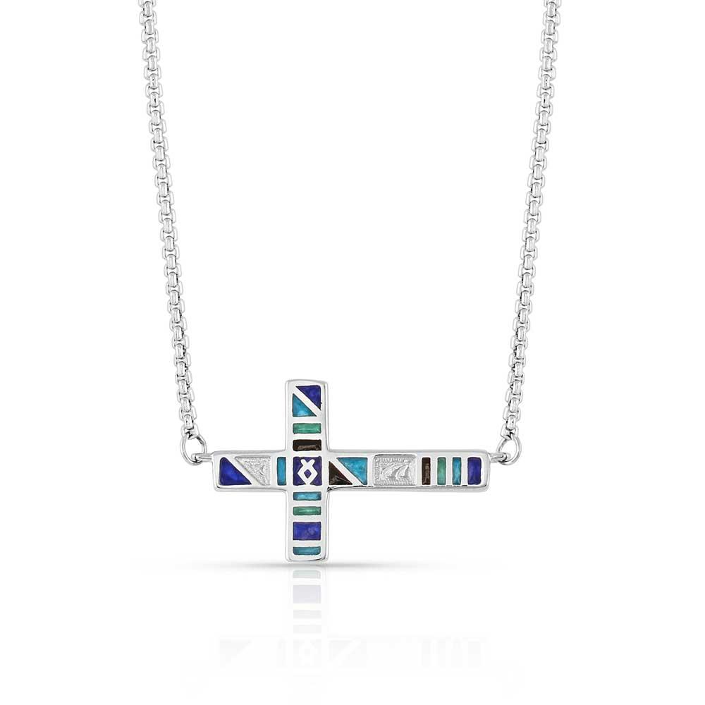 American Legends Color Cross Necklace