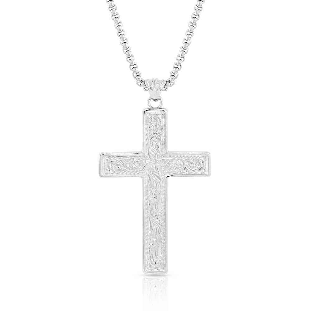 American Legends Block Color Cross Necklace